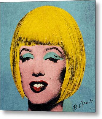 Bob Marilyn  Metal Print by Filippo B