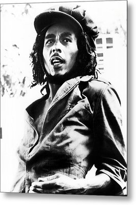 Bob Marley In His Youth Metal Print by Retro Images Archive