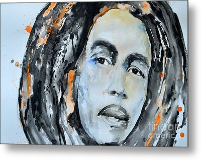 Bob Marley Metal Print by Ismeta Gruenwald