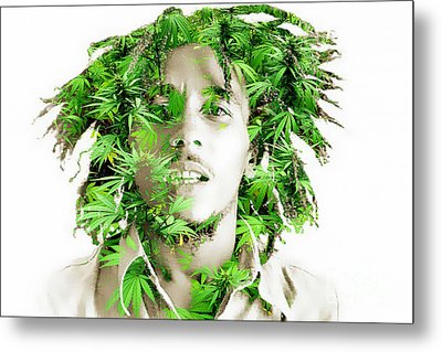 Bob Marley Metal Print by Marvin Blaine