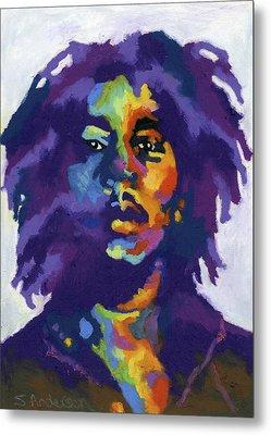 Bob Marley Metal Print by Stephen Anderson