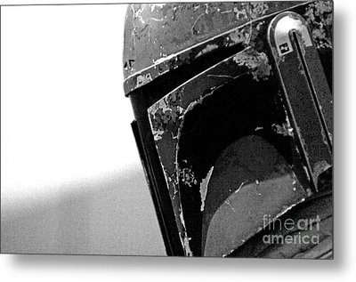 Boba Fett Helmet 24 Metal Print by Micah May