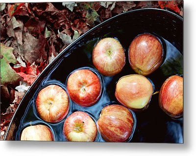Bobbing For Apples Metal Print by Kim Fearheiley