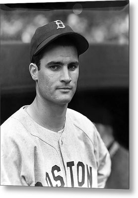 Bobby Doerr Looking Into Camera Metal Print by Retro Images Archive