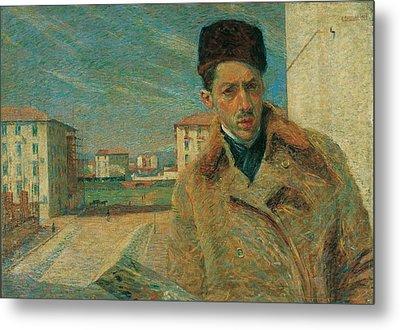 Boccioni Umberto, Self-portrait, 1908 Metal Print by Everett