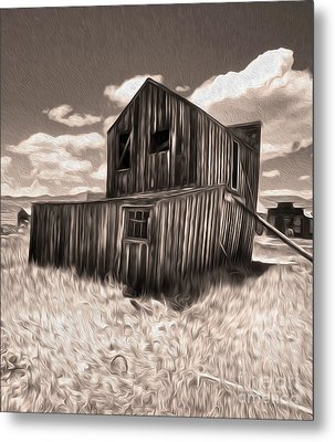 Bodie Ghost Town - Bent House 03 Metal Print by Gregory Dyer