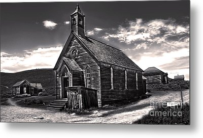 Bodie Ghost Town - Spooky Church Metal Print by Gregory Dyer
