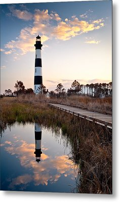 Bodie Island Lighthouse - Cape Hatteras Outer Banks Nc Metal Print by Dave Allen