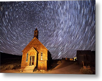 Bodie Star Trails Metal Print by Cat Connor