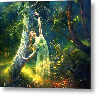 Bohemian Dancer Fantasy Metal Print by Georgiana Romanovna