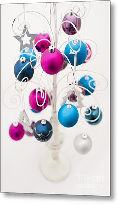 Bold Baubles Metal Print by Anne Gilbert