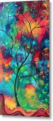 Bold Rich Colorful Landscape Painting Original Art Colored Inspiration By Madart Metal Print by Megan Duncanson