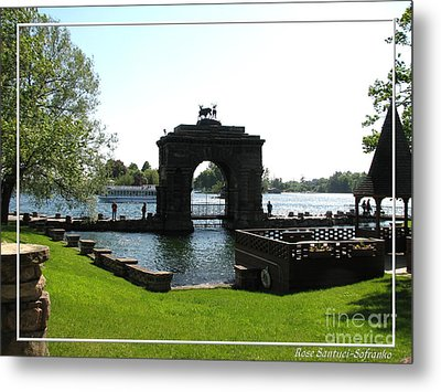 Boldt Castle Entry Arch Metal Print by Rose Santuci-Sofranko