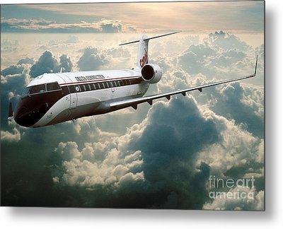 Bombardier-canadair Regional Jet Crj Metal Print by Wernher Krutein