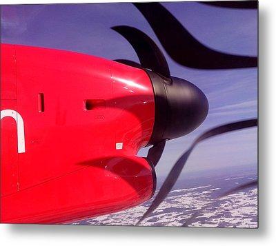 Bombardier Propeller Jet Metal Print by Yury Malkov