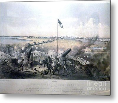 Bombardment Of Fort Fisher Metal Print by Celestial Images
