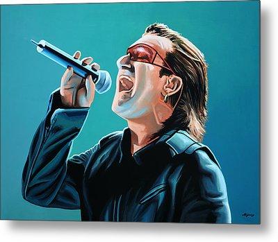 Bono Of U2 Painting Metal Print by Paul Meijering