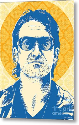 Bono Pop Art Metal Print by Jim Zahniser
