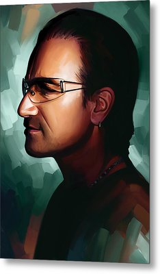 Bono U2 Artwork 1 Metal Print by Sheraz A