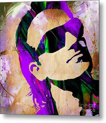Bono U2 Metal Print by Marvin Blaine