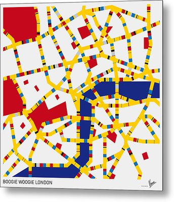 Boogie Woogie London Metal Print by Chungkong Art