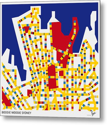 Boogie Woogie Sydney Metal Print by Chungkong Art