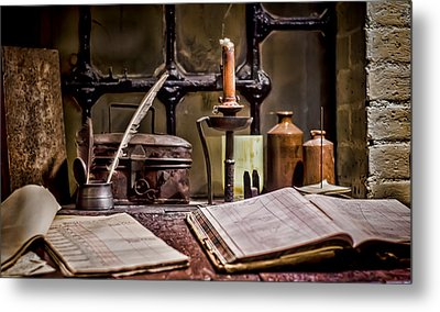 Book Keeper Metal Print by Heather Applegate