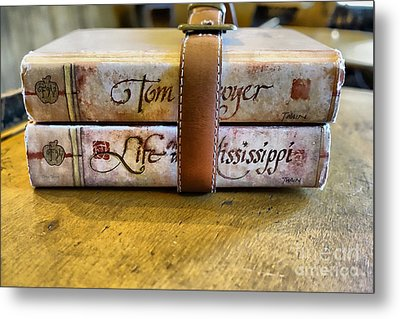 Book Strap 2 Metal Print by Cheryl Young