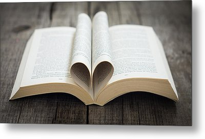 Book With Heart Metal Print by Aged Pixel