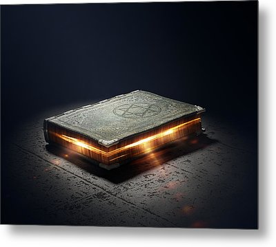 Book With Magic Powers Metal Print by Johan Swanepoel