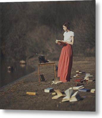 Books Metal Print by Anka Zhuravleva