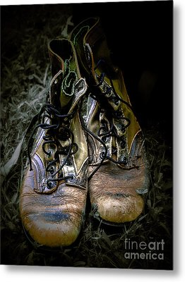 Boots That Grunt  Metal Print by Steven  Digman