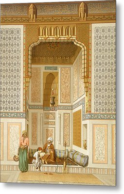 Bordeyny Mosque, Cairo Metal Print by French School