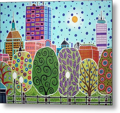 Boston Abstract Metal Print by Karla Gerard