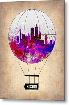 Boston Air Balloon Metal Print by Naxart Studio