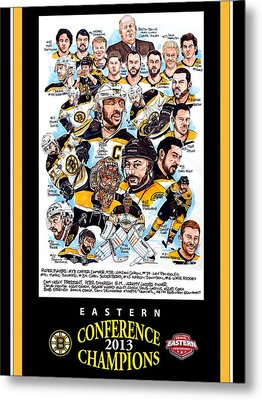 Boston Bruins Metal Print by Dave Olsen