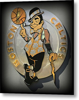 Boston Celtics Metal Print by Stephen Stookey