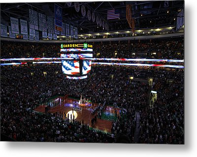 Boston Celtics Under The Star Spangled Banner Metal Print by Juergen Roth