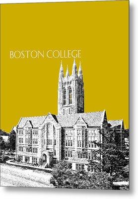 Boston College - Gold Metal Print by DB Artist