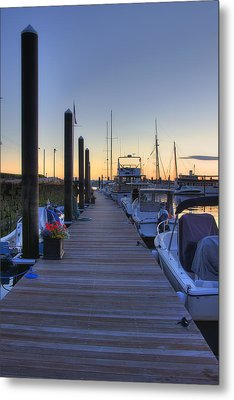 Boston Dock Sunrise Metal Print by Joann Vitali