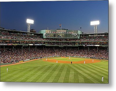 Boston Fenway Park And Red Sox Nation Metal Print by Juergen Roth