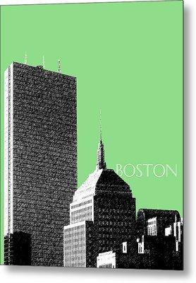 Boston Hancock Tower - Sage Metal Print by DB Artist
