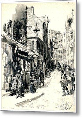 Boston Jewish Quarter 1899 Metal Print by Padre Art