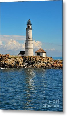 Boston Light Metal Print by Catherine Reusch  Daley
