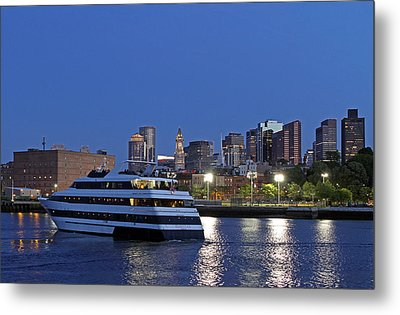 Boston Odyssey Cruise Ship Metal Print by Juergen Roth