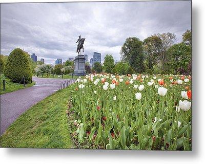 Boston Public Garden Metal Print by Eric Gendron