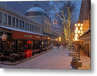 Boston Quincy Market And Faneuil Hall Metal Print by Juergen Roth