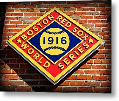 Boston Red Sox 1916 World Champions Metal Print by Stephen Stookey