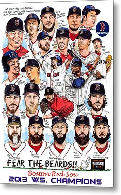 Boston Red Sox Ws Champions Metal Print by Dave Olsen