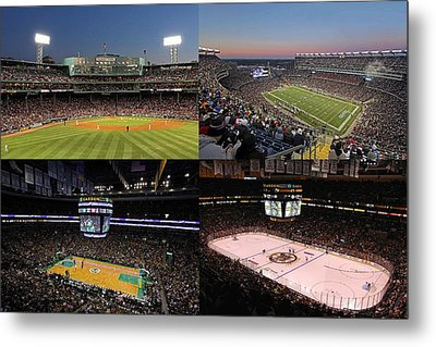Boston Sport Teams And Fans Metal Print by Juergen Roth